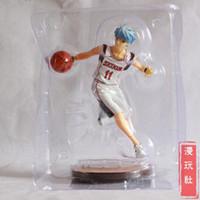basketball dribbling - Japanese anime Kuroko s Basketball Handsome boy s Kuroko Tetsuya Toys action figure White Color Dribbling posture