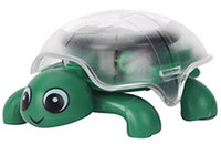 Wholesale Hot Cute Solar Powered Mini Tortoise Turtle Educational Toys Christmas Solar Tortoise Toy Green