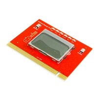 Wholesale 50pcs PCI Diagnostic Motherboard Analyzer Tester Post Card with LCD Display laptop PC By Fedex UPS DHL