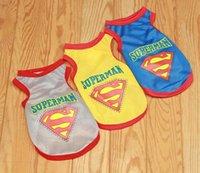 pet and dog diapers - 2015 Promotion Hot Sale Hats Disfraces Infantiles Tenis Infantil Masculino Halloween Costume Superman Pet Dog Vest Spring And Summer Clothes