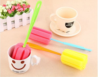 Wholesale Hot Random Sponge Brush Bottle Cup Glass Washing Cleaning Kitchen Cleaner Tool