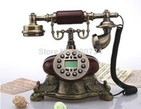 antique wooden telephone - wooden antique style telephone with H F function