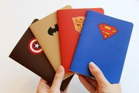 Wholesale Superhero notepad Notes superman batman Captain America transformers students Office School Supplies child heros avengers theme party gift