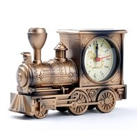 Wholesale Antique Alarm Clock Fashion Home Cartoon Locomotive Train Alarm Clock student gift bedside alarm clock X60 JJ0352W s1