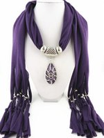 Wholesale 2015 Pendant Scarves Jewelry New style Multicolor resin diamond teardrop shaped alloy Charms Tassel Scarves for women