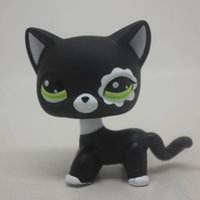 Wholesale Littlest Pet Shop RARE Black Short Hair Cat Standing loose kitty LPS