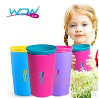 Wholesale wow kids drinking cups multicolors options Genuine Wow Cup original good quality for Kids with Freshness Lid Spill Free Drinking Cup m0437
