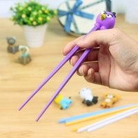 Wholesale 100pairs Children Kids Intelligent Training Chopsticks Baby Learning Chopsticks Early Education Tableware GHF