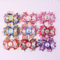 baby bottle caps - Hot Sale Mixed Colors Women Accessories New Popular quot Girl Baby Minions Funny Ribbon Hair Bows with Bottle Cap y