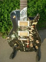 guitar parts - New Arrival Electric guitar with flame maple veneer in gold parts Best Selling