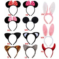 animal fancy dress women - New Arrivals Girl Women Headband Headwear Hair Accessories Party Fancy Dress Tools Plastic Plush Cute Animal Ears Mickey IX45