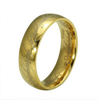 Wholesale Hot Selling Fashion Men Women mm Stainless Steel Lord Of The Rings Ring The Hobbit Gold One Rings Magic Rings Gift MR17