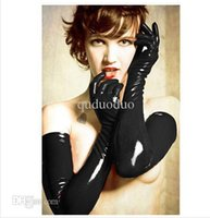 Wholesale pairs Sexy Gloves Womens Adult Wet Look Latex PVC Leather Fetish Costume Accessory colors