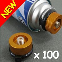 Wholesale Brand New Copper Gas Propane Bottle Adaptor Transfer Nozzle Connector Fire Camping Stove Burner Gear Hot Promotion