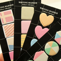 Wholesale 36pcs Post it memo stickers Check note Cute writing marker bookmark School supplies Stationery store Office material v10