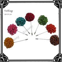 Wholesale Felt flowers lapel pin brooch pins color for your choice
