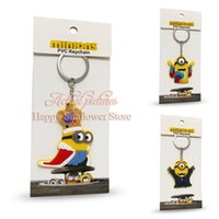 best movie voices - New arrival Despicable Me doll D Key Chain Cartoon Minions Keychains Key Ring Chaveiro best gift mix multiple styles