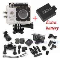 Wholesale Two batteries Action Camera SJ7000 Wifi Screen Sports extreme mini cam recorder marine diving P HD DV like go pro Hero