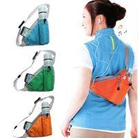 Wholesale Hot Men Women Waterproof Chest Bags Nylon Messenger Shoulder Sport Running Casual Outdoor Back Pack MD228