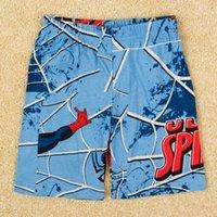 10pcs nova marque l'été 2015 enfants short bande dessinée Spiderman imprimé garçons short pantalon vêtements de bébé à bas prix Shorts occasionnels en stock