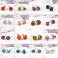 Wholesale Hot new fashion Shambhala crystal earrings silver full diamond earrings and more styles available a736