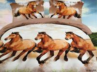 leopard print bedding - 4pcs Home textile D bedding set animal bed cotton set leopard duvet cover set bed sheet horse lion tiger flowers bed linen