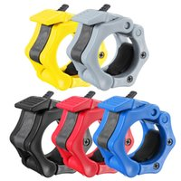 Wholesale 2016 New Stylish Best Price x mm Collar Clamps Lock Barbell Dumbbell Spring Weight Crossfit Colorful