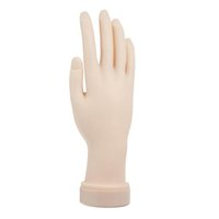 Wholesale Pro Practice Nail Art Hand Soft Training Display Model Hands Flexible Silicone Prosthetic Personal Salon Manicure Tools Hot