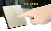 Wholesale Touch Switch Gang Single Way Smart Control On off for Home Supplies UK Standard
