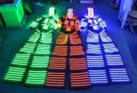 Wholesale HOT SALE LED Luminous Costumes David Guetta KRYOMAN LED Robot Costume for Night Clubs Parties Size color customized
