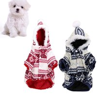clothing dog - Hot Sale Soft Warm Christmas coat pet Dog Pet Clothes Apparel Hoodie Hooded Coat for Winter H13289