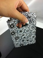 Wholesale Hot sale X9cm BLACK ADN GRAY Flower Pattern Small Plastic Jewelry Gift Packaging Bag Pouches For Boutique