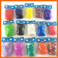 Link, Chain loom bands - Colorful Rainbow Loom kit Rubber band loom Bands bracelet amazing gift for children single colors handmade DIY Bands S Clips