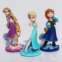 Wholesale set Cartoon Movie Princess Elsa Anna Rapunzel PVC Action Figure Toy for Kids