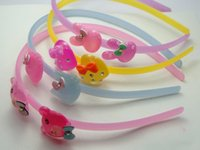 bear tooth - 4 Assorted Resin Colorful Cute Rabbit Bear Cat Heart headband hair band With Teeth