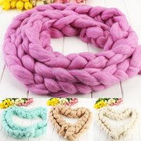 Wholesale Hot Sale cm Wool Roving Basket Filler Fiber BABY Photography Photo Newborn PROP Merino Wool Crochet Braid Colors