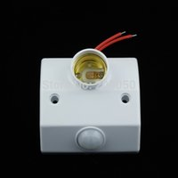 Wholesale E27 Socket PIR Auto Human Motion Sensor Infrared Detector Adjustable Screw mount Bulb Lamp Base Switch Lamp Holder V