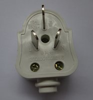 Wholesale White US Phase Electrical Plug With Ground For Light House Appliance etc V A mm