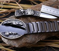 Wholesale unique belts stainless steel high quality self defence belt metel buckle with knife