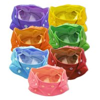 Wholesale 190 Adjustable Waterproof Reusable Breathable Summer Baby Nappy Diapers Colors