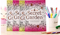 Wholesale Newest Secret Garden Coloring Book An Inky Treasure Hunt and portable Adult colouring book Children Relax Graffiti Painting Book