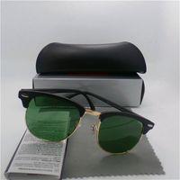 Wholesale New Arrival Glass lens Brand Designer Fashion Men Women Sunglasses UV Protection Vintage Sun glasses Retro glasses With Original box