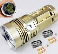 Wholesale SKYRAY LM x CREE XM L L2 LED Flashlight Torch Lamp x mAh Battery Charger