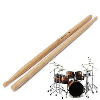 Wholesale Practical One Pair Maple Wood A Drum Sticks Jazz Drumsticks Music Entertainment Band tool Accessories
