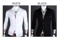 Wholesale 2014 New Men s Luxury Stylish Slim Fit Casual Shirt Tuxedo Shirts Mens Stylish Shirts Men s Dress Shirts Black White Size M XXL