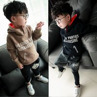 Wholesale 2015 Autumn Winter Boys Hoodies Hooded Fleece Kids Sweatshirts Boys Outerwear Pullover