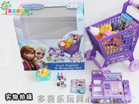 Wholesale 2016 new Frozen cash Register shopping cart Toy suit kids Elsa Anna Pretend Play Furniture Toys children Educational Interactive toys who