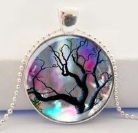 Wholesale Tree Pendant Glass Fantasy Art Pendant Tree of Life Jewelry Fantasy Tree Necklace
