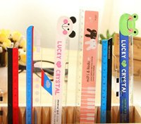 Wholesale Free ship pc Creative stationery Garfield cat molding plastic rulers cute adorable plane ship ruler