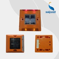 Precio de El tráfico de potencia-Solar LED Powered Camino Stud, tráfico reflectantes ojos de gato luz de alarma con 4 lámparas solares auto-regulación (opcional)